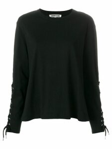 McQ Alexander McQueen lace-up detail sweatshirt - Black