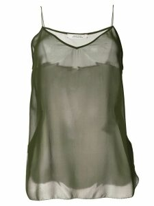 Dorothee Schumacher sheer silk tank top - Green
