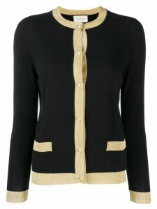 Gucci glittery trim cardigan - Black