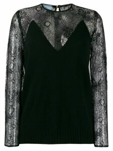 Prada lace sleeve shirt - Black