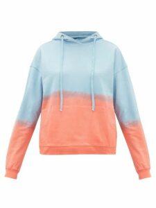 Arizona Love - Alexa Tie-dye Cotton Hooded Sweatshirt - Womens - Blue Print