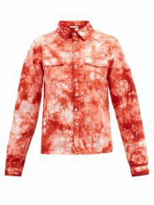 Arizona Love - Alba Tie-dye Western Denim Shirt - Womens - Red Print