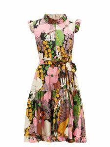La DoubleJ - Short & Sassy Floral-print Silk Dress - Womens - Multi