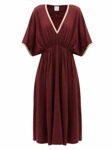 Max Mara Beachwear - Vetro Midi Dress - Womens - Burgundy