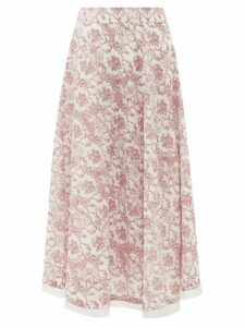 Le Sirenuse, Positano - Livia Valy Myers-print Cotton-voile Skirt - Womens - Red Print