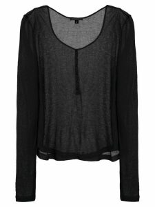 Kiki de Montparnasse Ribbed Intime T-shirt - Black