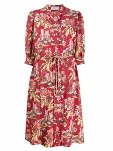 Peter Pilotto floral shirt dress - Red