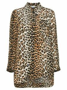 GANNI leopard print shirt - Brown
