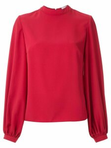 Olympiah mock neck blouse - Red