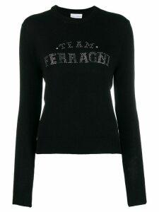 Chiara Ferragni rhinestone logo jumper - Black