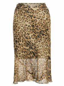 Nili Lotan leopard-print skirt - Brown