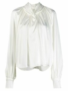 A.W.A.K.E. Mode pleated blouse - White