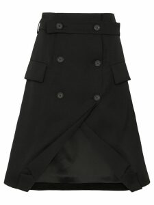 Delada double-breasted tuxedo skirt - Black