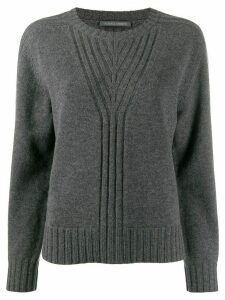 Alberta Ferretti ribbed knit detail sweater - Grey