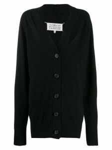 Maison Margiela cut-out cashmere cardigan - Black