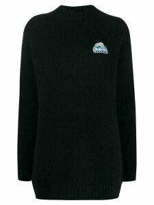 Alanui oversized knit sweater - Blue