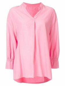 Kuho V-neck blouse - X Pink