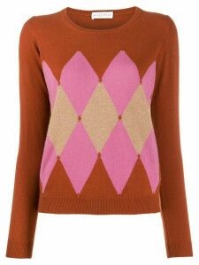 Ballantyne argyle knit jumper - ORANGE