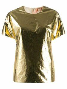 Nº21 metallic T-shirt - GOLD