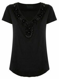 Andrea Bogosian Precious embroidered T-shirt - Black