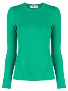 DVF Diane von Furstenberg round neck top - Green