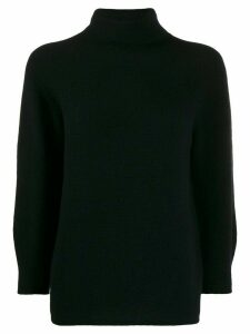 Max Mara three-quarter sleeves roll neck jumper - Black