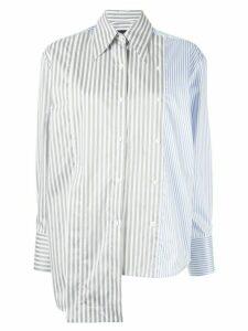Eudon Choi asymmetric panelled shirt - Blue