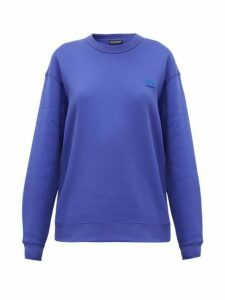 Acne Studios - Fairview Face Cotton Sweatshirt - Womens - Blue