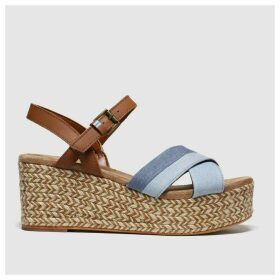 Toms Blue Willow Wedge Sandals
