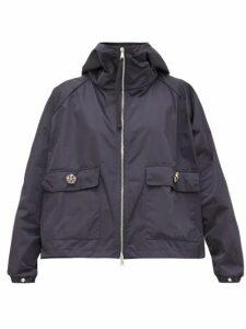 Moncler - Acier Technical Gabardine Hooded Jacket - Womens - Navy