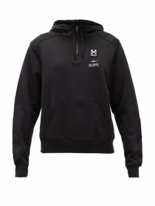Phipps - X Millet Logo-embroidered Cotton Hooded Sweatshirt - Womens - Black