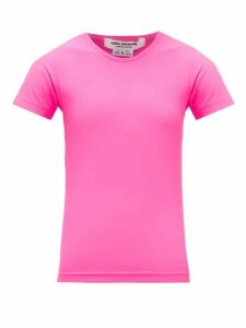 Junya Watanabe - Technical-jersey T-shirt - Womens - Pink