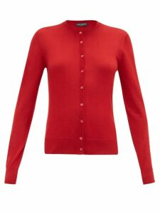 Dolce & Gabbana - Crew-neck Cashmere-blend Cardigan - Womens - Red