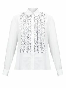 Alexandre Vauthier - Ruffled Cotton-poplin Shirt - Womens - White