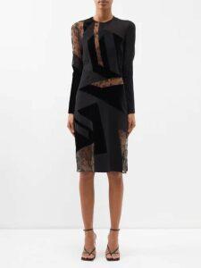 Marine Serre - Drapery Upcycled Cotton-poplin Dress - Womens - White Multi