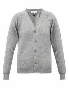 Comme Des Garçons Girl - V-neck Raglan-sleeve Cardigan - Womens - Grey