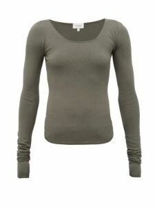 Lemaire - Seamless Stretch-jersey Long-sleeved T-shirt - Womens - Khaki