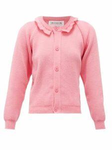 Comme Des Garçons Girl - Raglan-sleeve Ruffled Cardigan - Womens - Pink