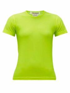 Junya Watanabe - Technical-jersey T-shirt - Womens - Yellow