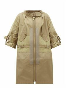 Junya Watanabe - Patchwork Cotton-blend Gabardine Coat - Womens - Beige