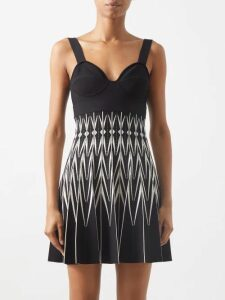 Bolt X Edie - Race Silk Wrap Top - Womens - Black White