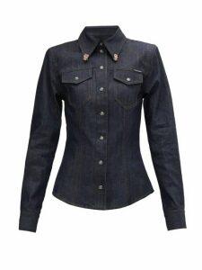Dolce & Gabbana - Crystal-embellished Denim Shirt - Womens - Denim