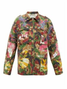 Myar - Camouflage & Aloha-patch Cotton-blend Shirt - Womens - Multi