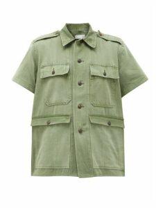 Myar - Cotton-twill Short-sleeved Shirt - Womens - Khaki