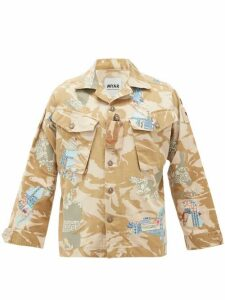 Myar - Camouflage-print Upcycled Cotton-blend Jacket - Womens - Beige Multi