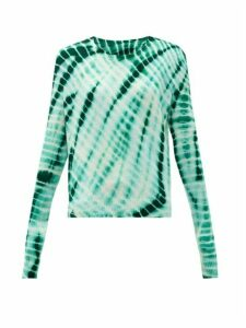 The Elder Statesman - Tie-dyed Cashmere Sweater - Womens - Green