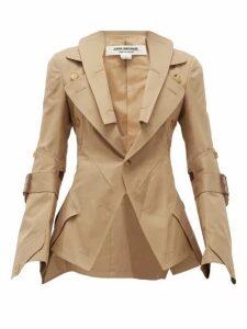 Junya Watanabe - Deconstructed Technical-gabardine Jacket - Womens - Beige