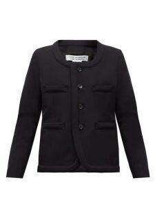 Comme Des Garçons Comme Des Garçons - Scoop-neck Single-breasted Wool Blazer - Womens - Navy