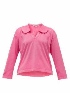 Comme Des Garçons Comme Des Garçons - Peter Pan-collar Cotton-jersey Shirt - Womens - Pink