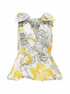 Erdem - Romina Floral Fil-coupé Top - Womens - Yellow White